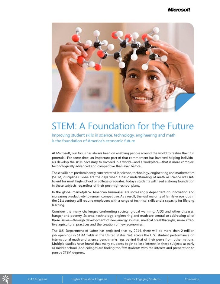 m                                         STEM:	A	Foundation	for	the	Future                                     Improving	...