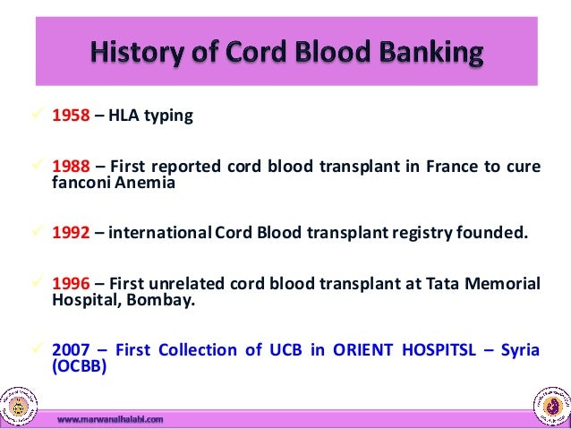 Image result for cord blood banking history