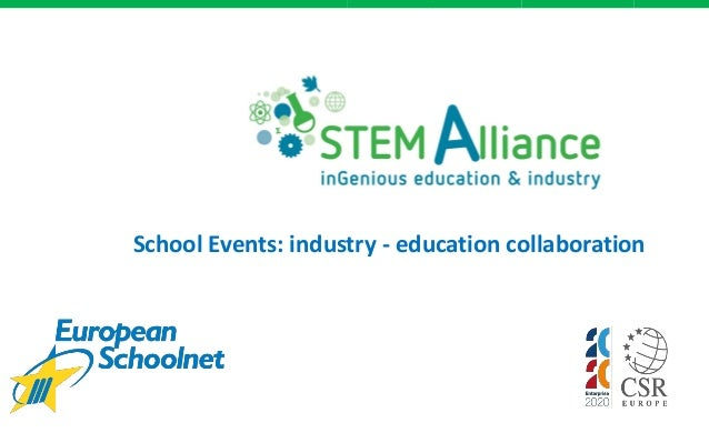 School Events: industry - education collaboration
