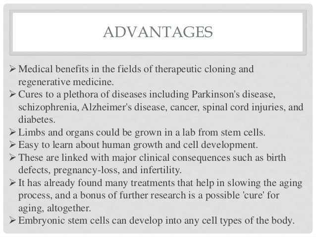 stem cell therapy advantages and disadvantages
