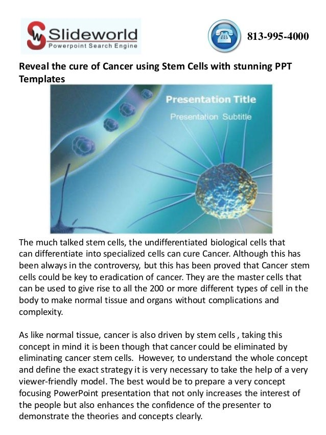Stem cells are they the cure