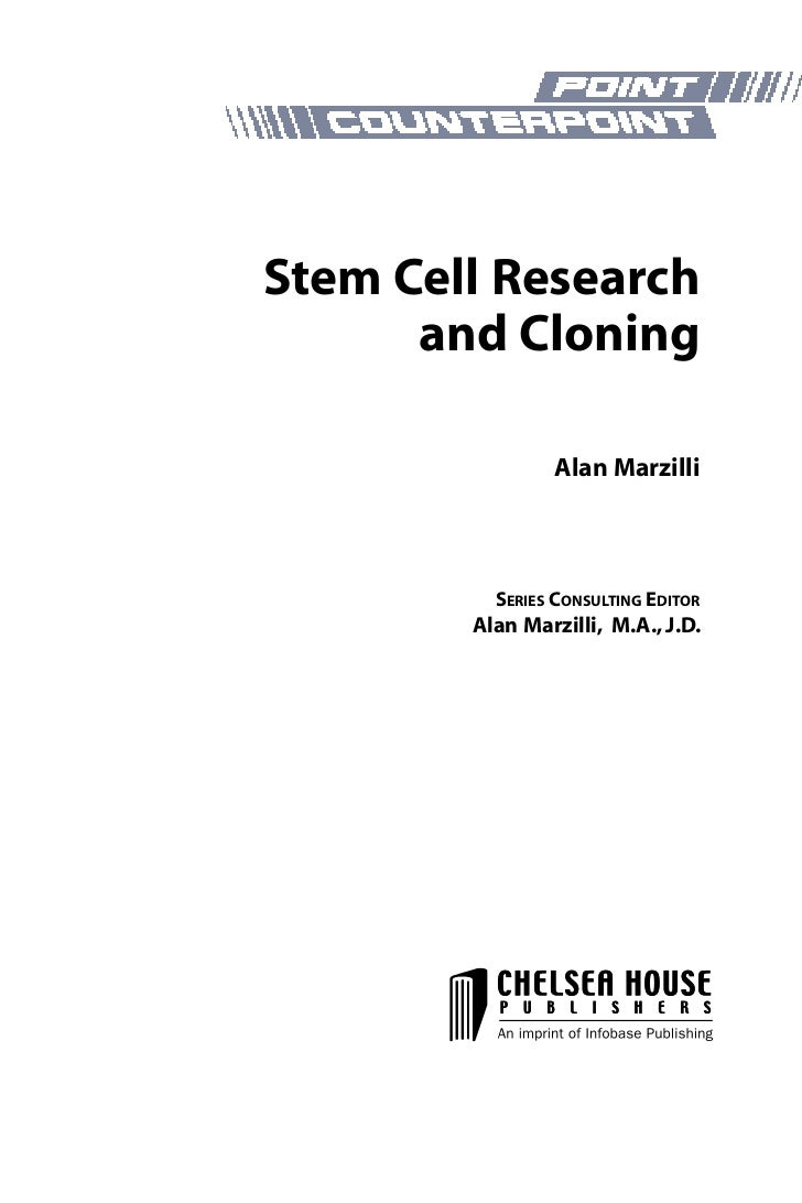 Stem cell research outlines for a paper