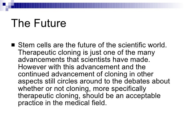 stem cell research and therapeutic cloning  18