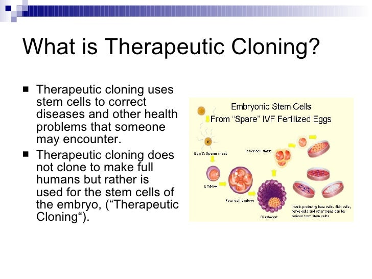 therapeutic cloning pros