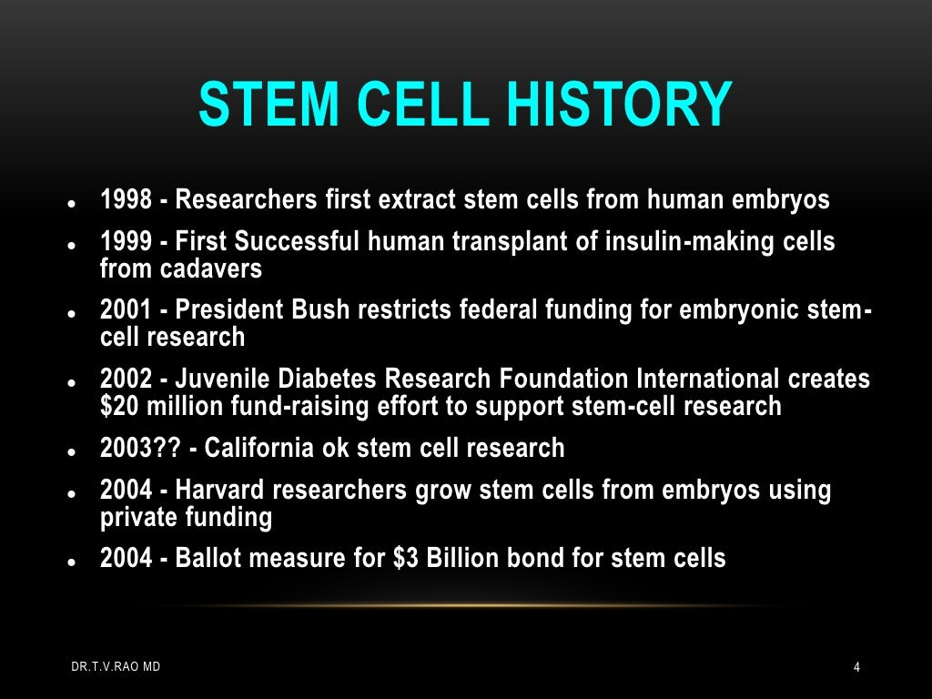 a research of stem cell in 1998 Stem cells faqs covers stem cell types, including embryonic stem cells, uses and ethical issues an exciting new trial to test the effectiveness of stem cells in early knee osteoarthritis is.