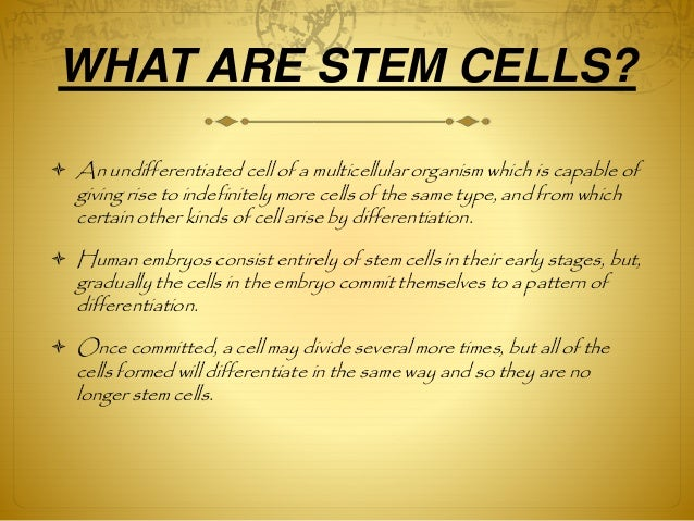 Therapeutic uses of stem cells