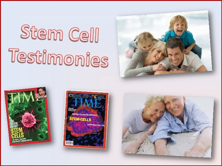 Stem Cell Testimonies<br />