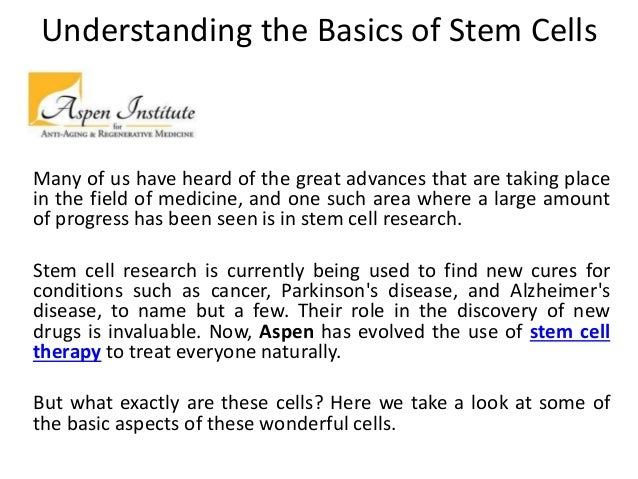 Stem cell therapy aspen-regenerativemedicine com