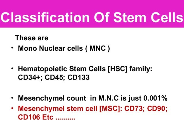 Differentiation with different cluster coding/desire cells type ( as per disorder) through culture.. (Mesenchymal types ar...