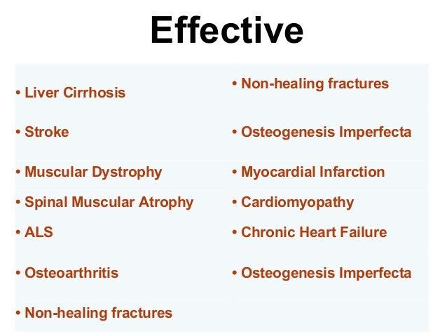 • Osteoarthritis • Non-healing fractures • Osteogenesis Imperfecta • Achondrodysplasia Bone and Cartilage Disorders Cardio...