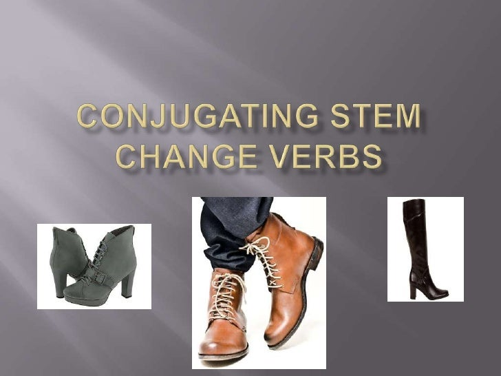 Conjugating Stem Change Verbs<br />