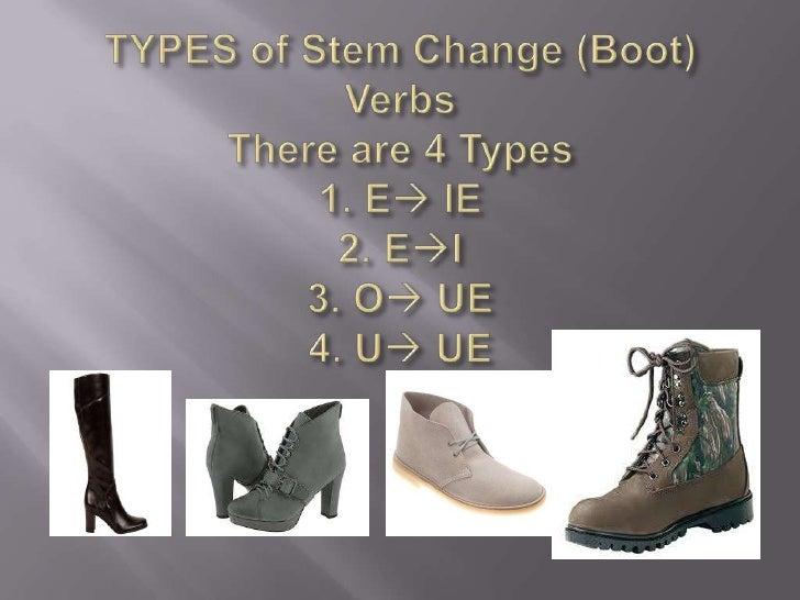 Stem change boot verbs notes Slide 3