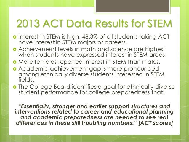 analysis of stem field Stem attrition: college students' paths into and out of stem fields statistical analysis report nces 2014-001 u s department of education.