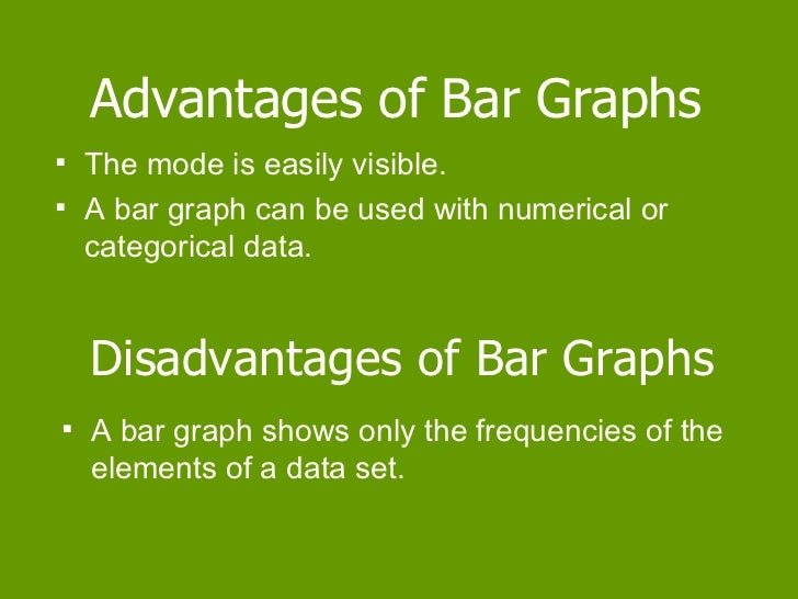 advantages and disadvantages of line and bar charts What are the advantages & disadvantages of using graphs in math by kristine tucker updated april 25, 2018 elementary, middle school and high school teachers often use graphs as part of their math curriculum.