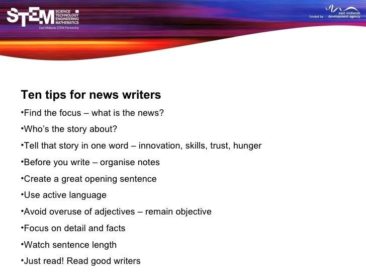 tips for good writing skills