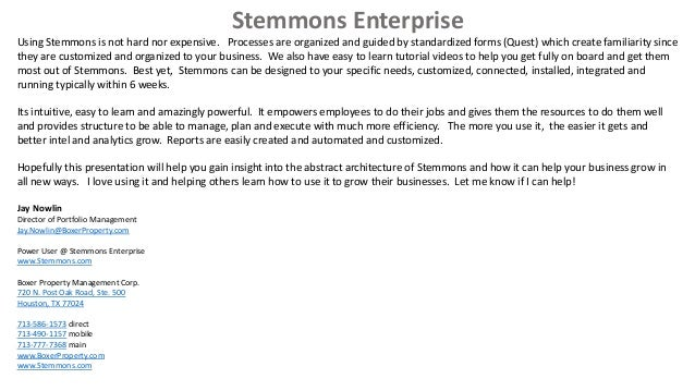 Stemmons Central - The Power of a Completely Unified Workspace