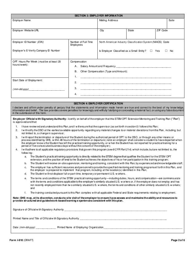 Stem Opt Extension  Mentor And Training Plan Form And Template