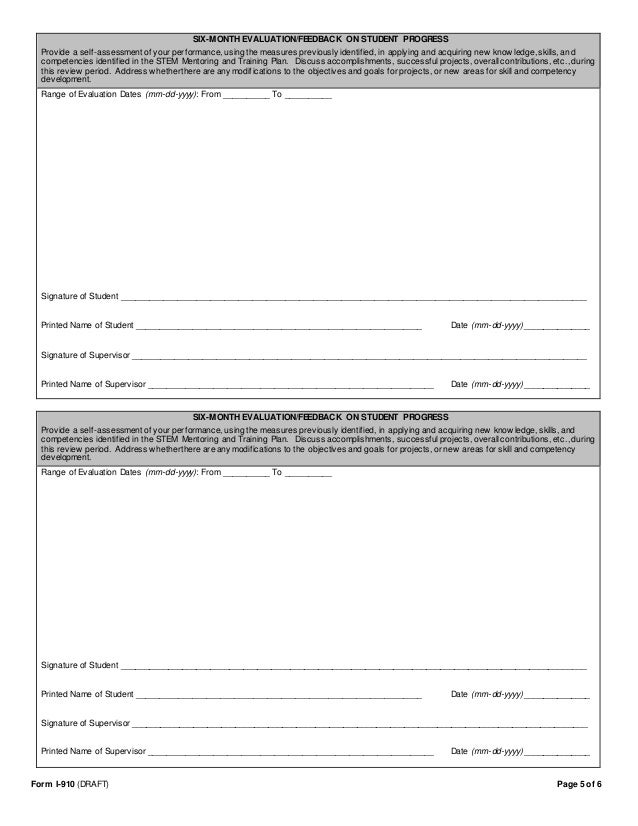 STEM OPT Extension - Mentor and Training Plan Form and Template