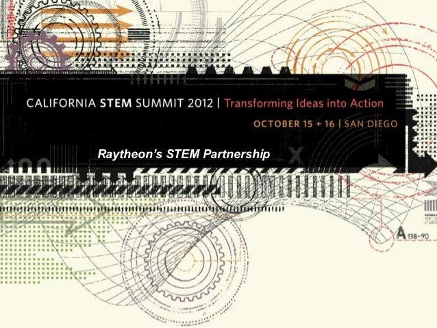 raytheon u0026 39 s stem partnership