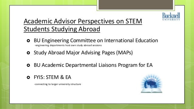 STEM Students Abroad: Understanding their Motivations and ...