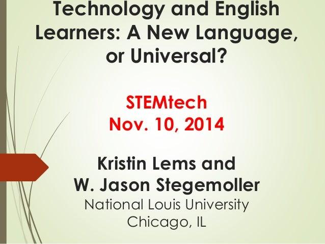English language and technology