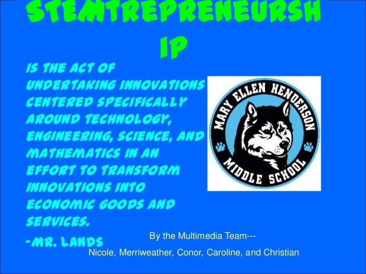 Stemtrepreneurship
