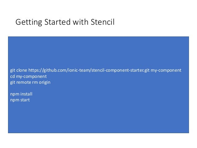 Stencil: The Time for Vanilla Web Components has Arrived