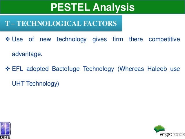 pest analysis of haleeb Pest analysis (political, economic, socio-cultural and technological) describes a framework of macro-environmental factors used in the environmental scanning .