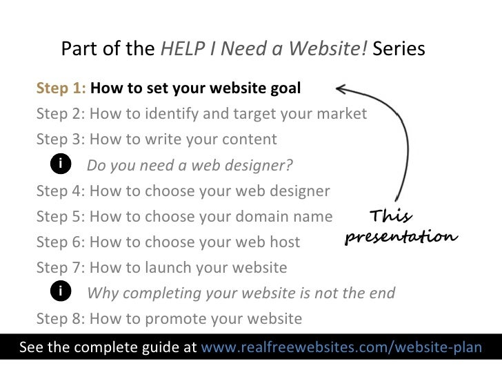 Step 1 How To Set Your Website Goal
