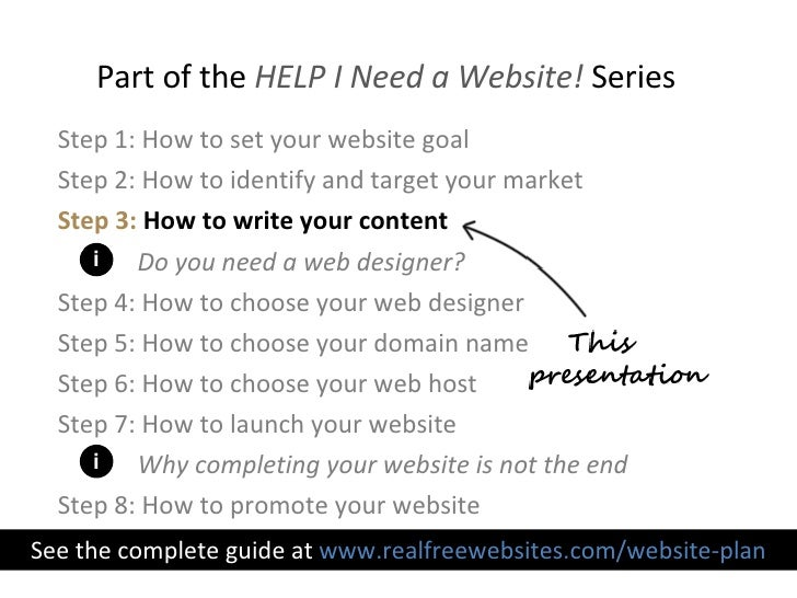 how to write website contents