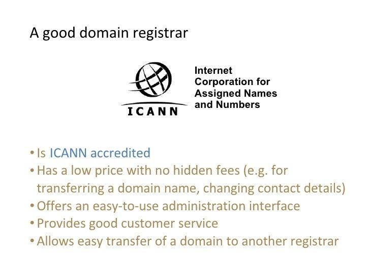 transferring domain name