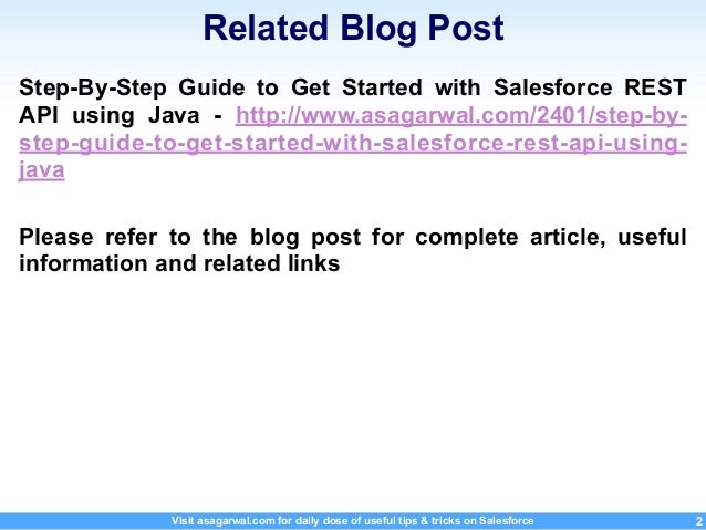 Step-by-Step Guide To Get Started With Salesforce REST API using Java