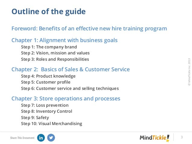 Step by-step guide to new hire training of retail associates