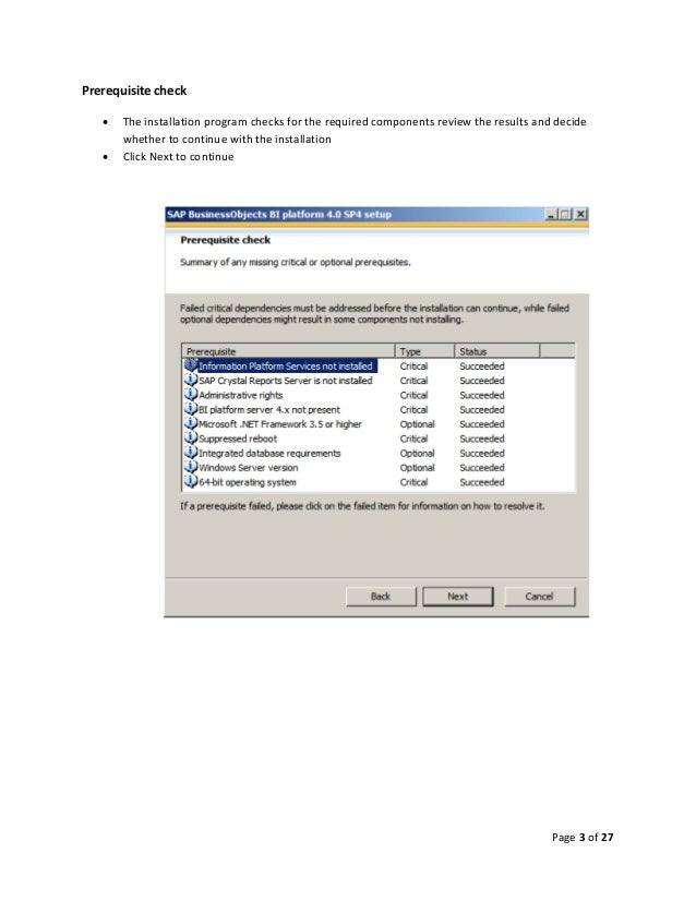 Step by Step installation of SAP BusinessObjects BI Platform 4.0 on W…