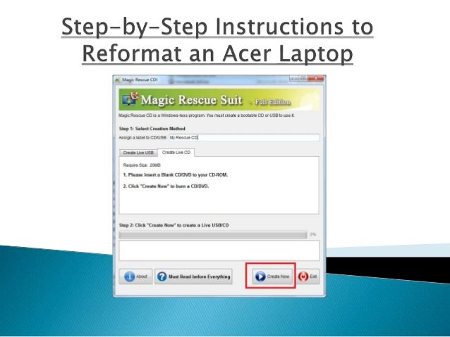How to wipe my acer laptop