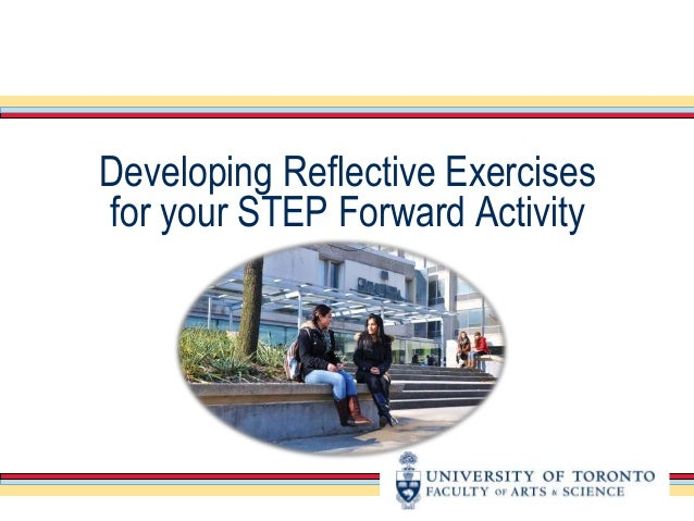 Developing Reflective Exercises  for your STEP Forward Activity