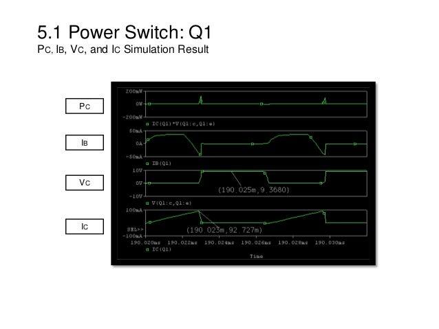 5.1 Power Switch: Q1 PC, IB, VC, and IC Simulation Result IB VC IC PC