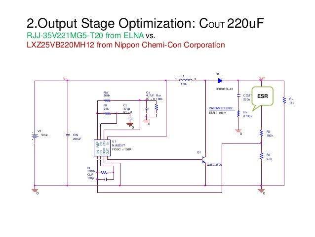 2.Output Stage Optimization: COUT 220uF RJJ-35V221MG5-T20 from ELNA vs. LXZ25VB220MH12 from Nippon Chemi-Con Corporation L...
