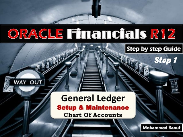 Step by step Guide  Step 1  General Ledger  Setup & Maintenance Chart Of Accounts Mohammed Raouf