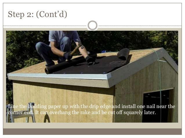 9  How to install asphalt roofing on a shed
