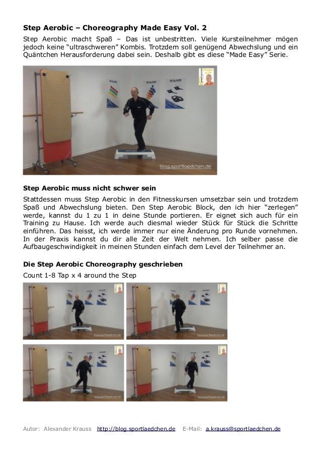 Step aerobic choreography made easy vol 2