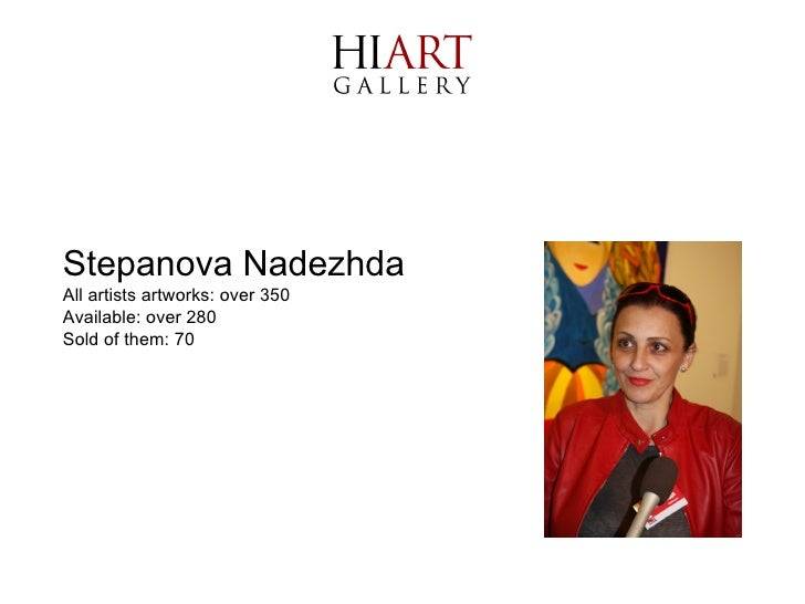 Stepanova Nadezhda All artists artworks: over 350 Available: over 280  Sold of them: 70