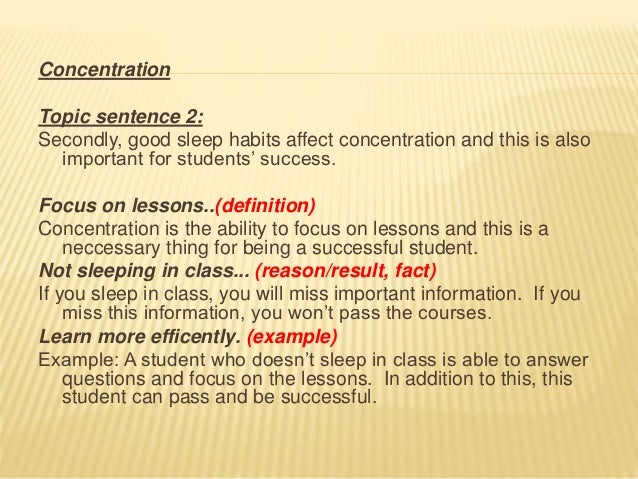 step by step essay concentration