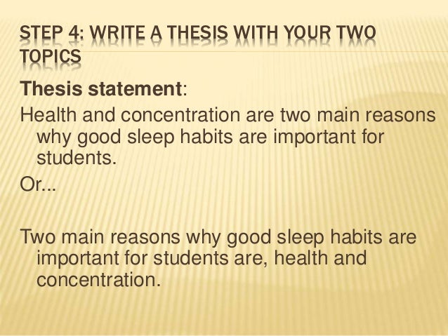 thesis statement on healthy living Thesis statement worksheet name: part 1 safe and healthy foods remember that a complete thesis statement must have more than just a topic- it should also.