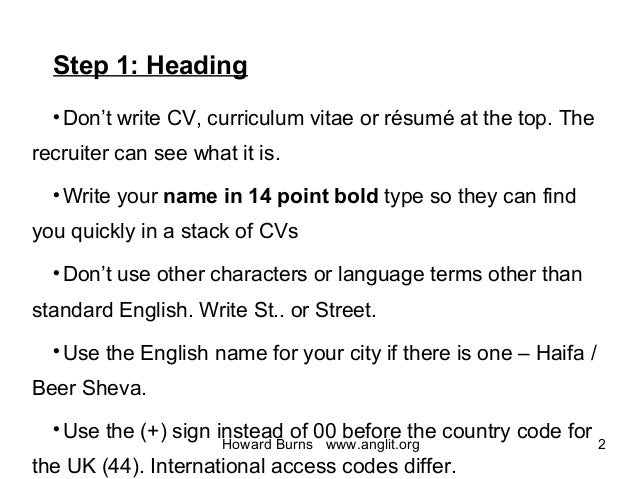 how to do a resume step by step