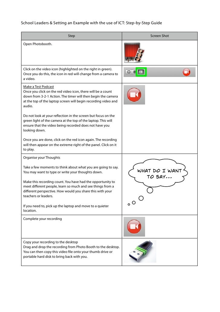 School Leaders & Setting an Example with the use of ICT: Step-by-Step Guide                                 Step          ...