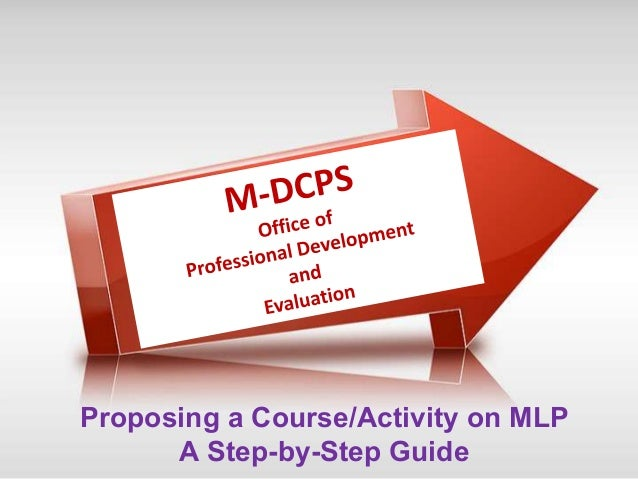 Proposing a Course/Activity on MLP  A Step-by-Step Guide