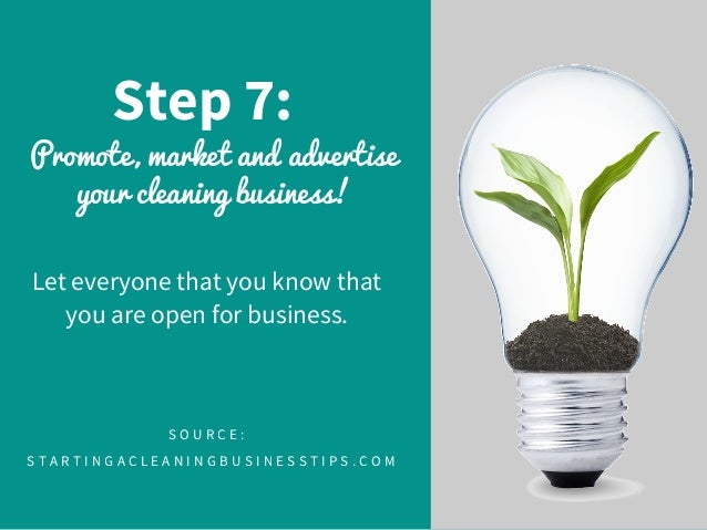 8 step 7 promote market and advertise your cleaning business