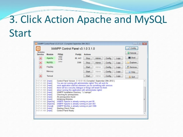 Step by step how to create database with phpmyadmin