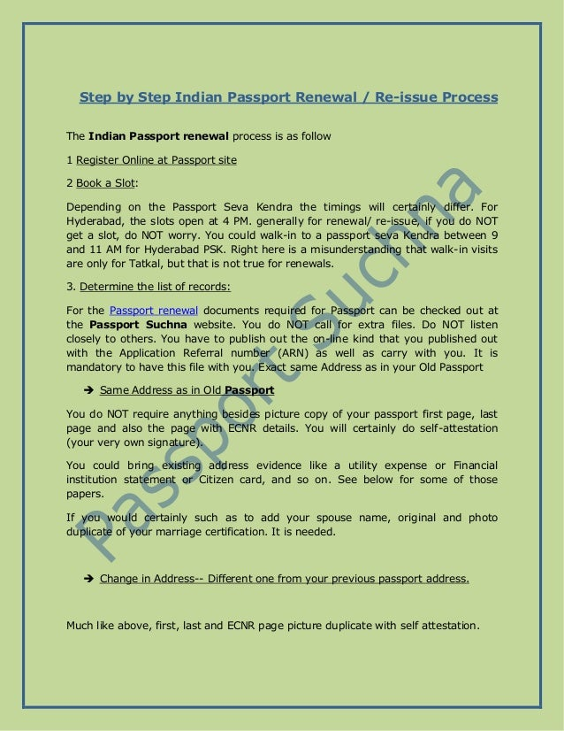 Step By Step Indian Passport Renewal Or Re Issue Process